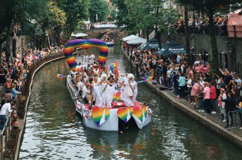 utrecht canal pride, boat