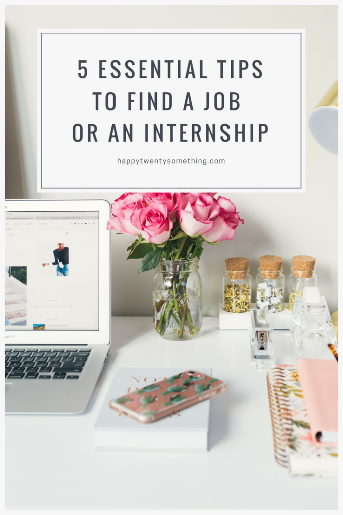 pinnable tips for finding a job or internship, how to find a job