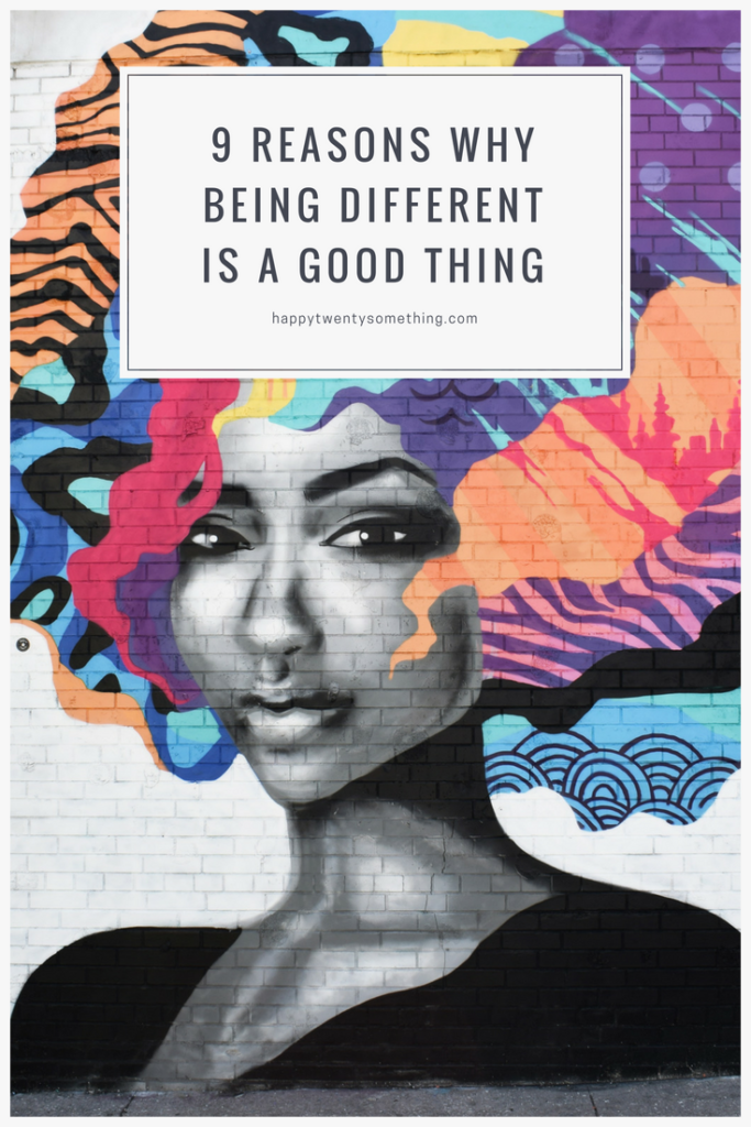being different is a good thing, reasons why, street graffiti, blog article, Pinterest